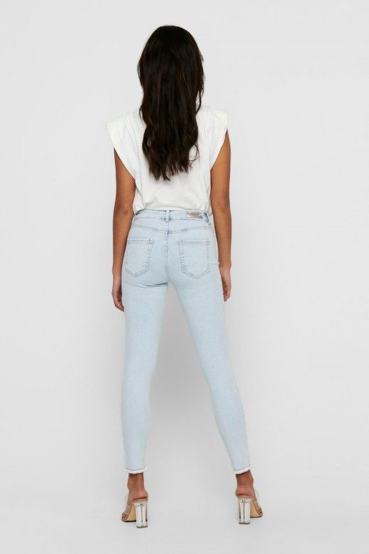 CALÇA MULHER JEANS BLUSH LIFE MID SK ONLY
