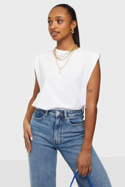 T-SHIRT MULHER AMYPADDED SHOULDER S/L ONLY