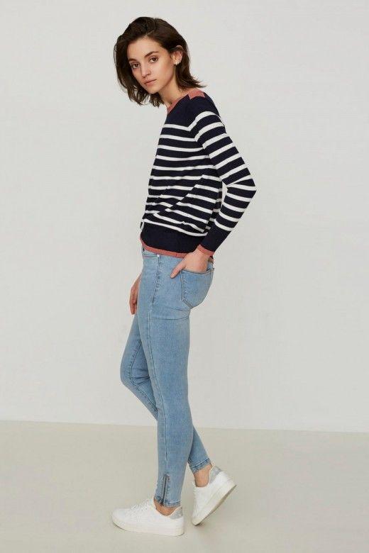 calça Jeans VMODA SEVEN NW Slim zIP
