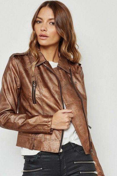 Blusão VERO MODA SAFRA Faux Leather