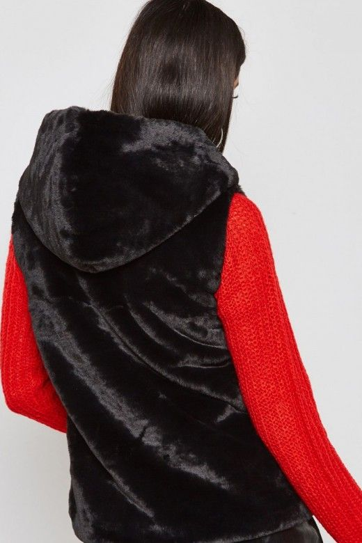 Colete Mulher VIDA Faux Fur Hooded ONLY