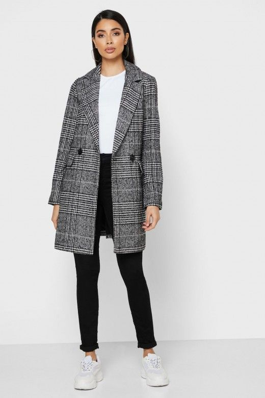 Casaco Mulher WOOL NEWSELENA CHECK ONLY