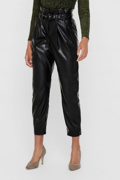 Calça Mulher DANA FAUX LEATHER PAPERBAG ONLY