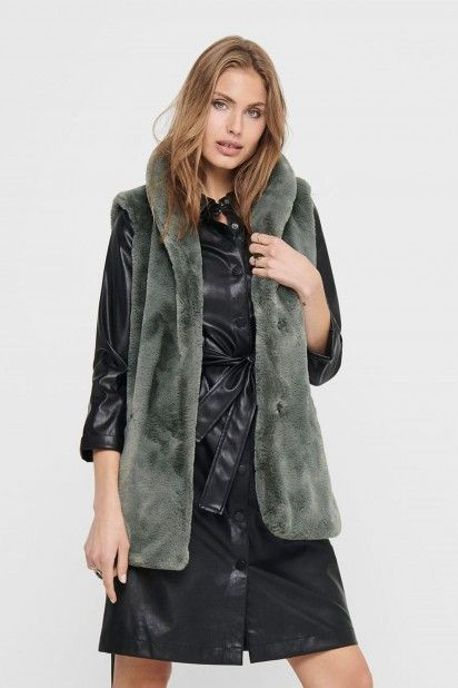Colete Mulher OLLIE FAUX FUR ONLY