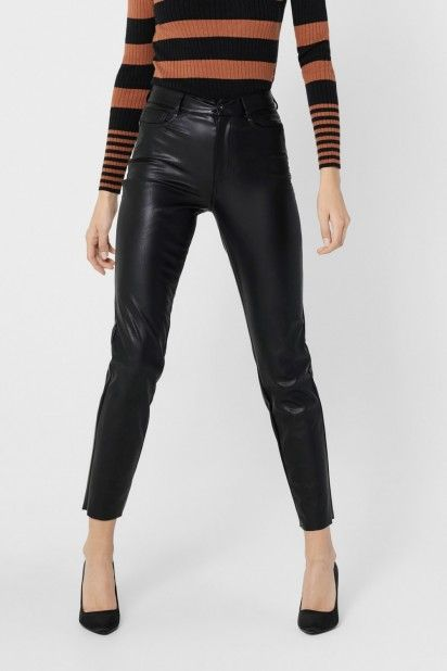 Calça Mulher EMILY FAUX LEATHER ONLY