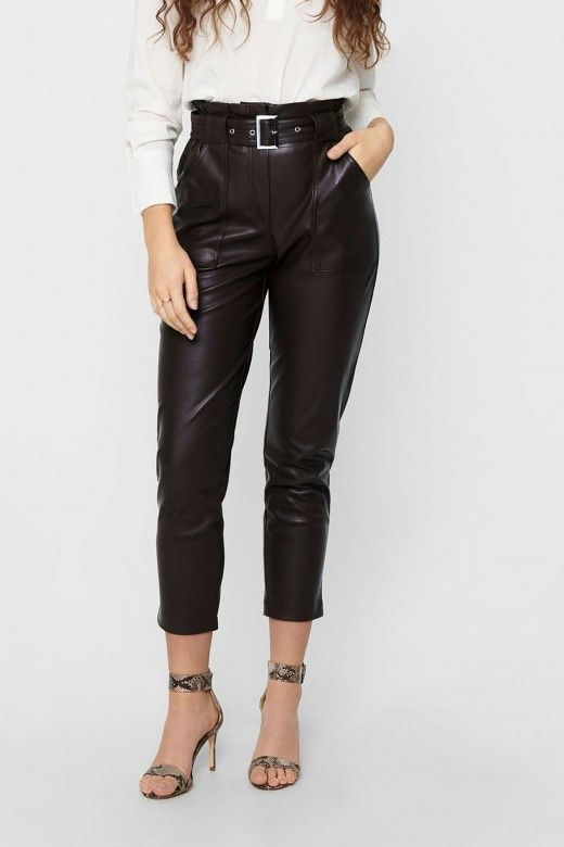 Calça Mulher BRIONY-DIONNE FAUX LEATHER ONLY