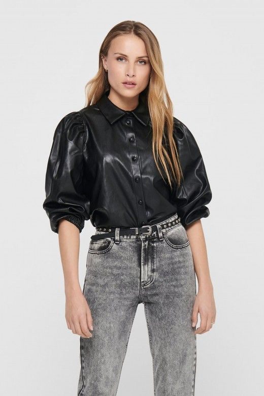 Blusa Mulher JIL-RONYA PUFF FAUX LEATHER ONLY