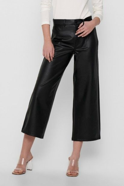 Calça Mulher MADISON FAUX LEATHER ONLY