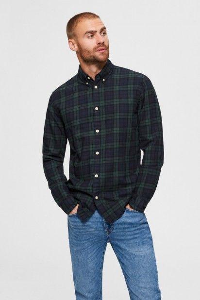 Camisa Homem HOUSTON Slim  Xadrez SELECTED