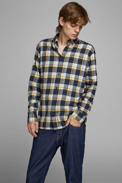 Camisa Homem EWASHINGTON Xadrez Jack Jones