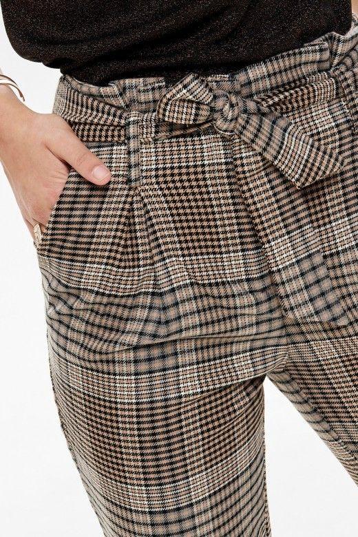 Calça Mulher LENA HW Paperbag Check ONLY