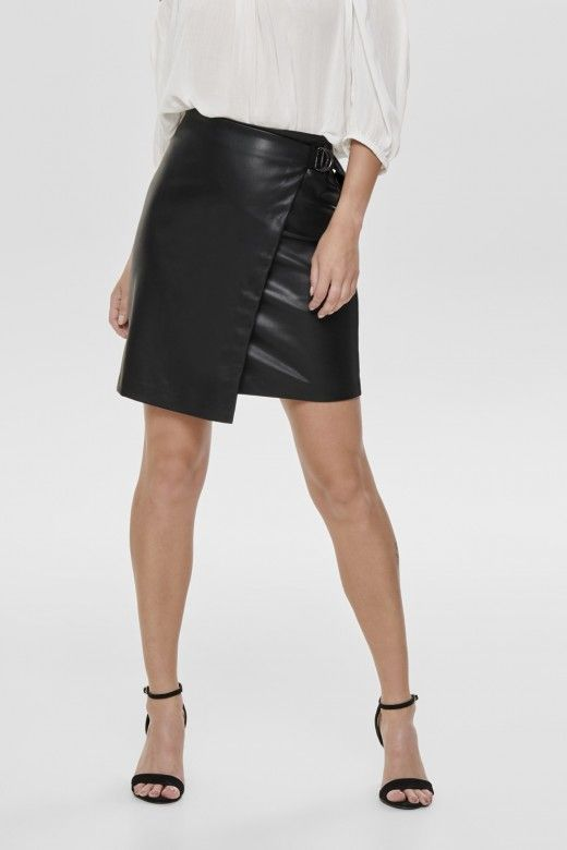Saia Mulher EVE Faux Leather Pencil ONLY