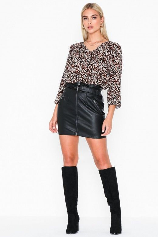 Saia Mulher METTE Curta Faux Leather ONLY