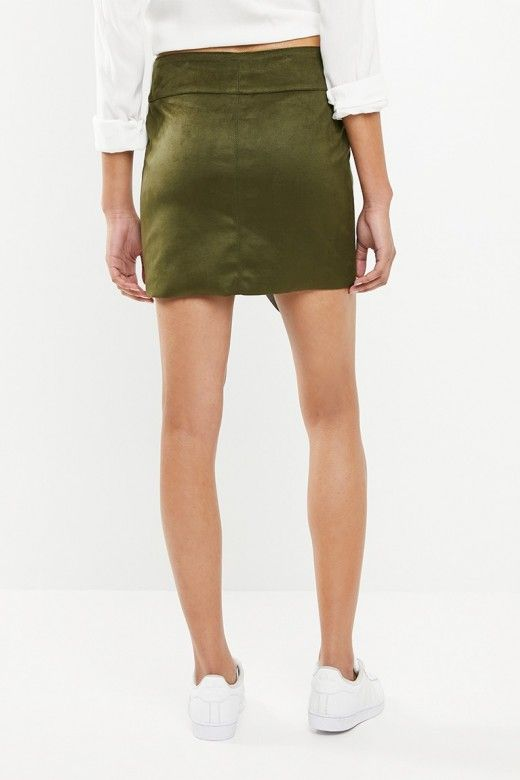 SAIA MULHER HAYLEY CURTA FAUX SUEDE ONLY