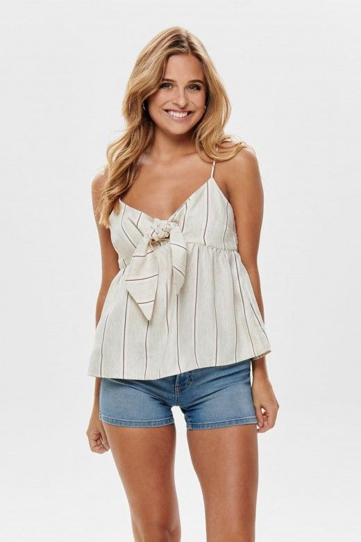 TOP MULHER NAOMI STRAP BOW ONLY