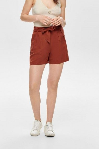 Shorts Mulher HEATHER PAPERBAG ONLY