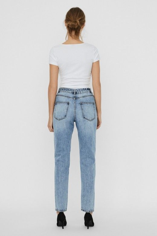Calça Mulher Jeans JOANA REG BELT VERO MODA