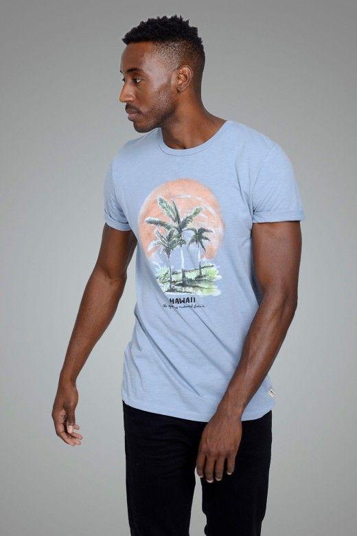 T-Shirt Homem OWEN BLU JACK JONES